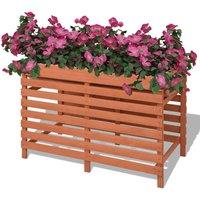 Zqyrlar - Planter 100x50x71 cm Wood - Brown