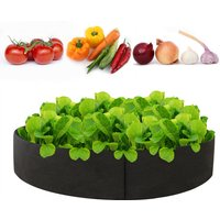 40Gallon Planter Grow Bag Thickened Planter Bag Round Shape Container Nonwoven Fabric Garden Plant Pots for Vegetables Flowers Herbs Fruit