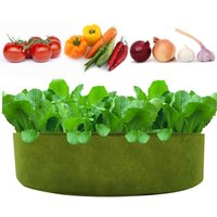 50Gallon Planter Grow Bag Thickened Planter Bag Round Shape Container Nonwoven Fabric Garden Plant Pots for Vegetables Flowers Herbs Fruit