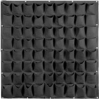 Plants Grow Bags Wall Mount Planter for Yard Garden Home Decoration Plant Protector, Black, 72 pockets