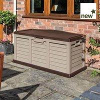 Plastic storage box/bench Mocha - ROWLINSONS