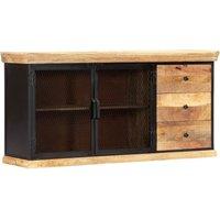 Plattsburg Solid Mango Wood Sideboard by Bloomsbury Market - Brown