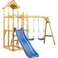 Playhouse with Slide Swing Ladder 285x305x226.5 cm - VIDAXL