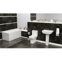 Plumbers Choice Dovi Square Complete Bathroom Suite - 1675mm x 700mm Single Ended Bath