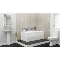 Edwards Complete Bathroom Suite - 1600mm x 700mm Single Ended Bath - 360mm Wide Basin - Plumbers Choice