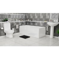 Plumbers Choice Gresini Complete Bathroom Suite - 1500mm x 700mm Single Ended Bath - 570mm Wide Basin