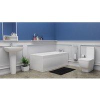 Sete Complete Bathroom Suite - 1600mm x 700mm Single Ended Bath - Plumbers Choice