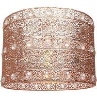 Polished Copper Acrylic Gem Moroccan Style Chandelier Pendan