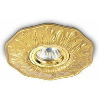 Polka brass recessed spotlight 1 bulb