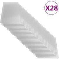 Youthup - Polycarbonate Sheets 28 pcs 4 mm 121x60 cm