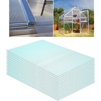 Polycarbonate Sheets Greenhouse Shed Roof Twinwall Glazed Panels, Set of 6
