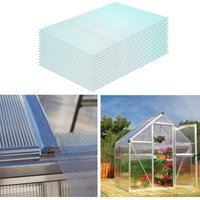 Polycarbonate Sheets Greenhouse Shed Roof Twinwall Glazed Panels, Set of 14