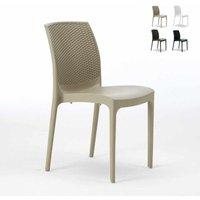 Grand Soleil - BOHÈME Stackable Garden Chair High-Quality Resin Rattan | Cream