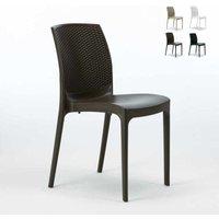 BOHÈME Stackable Garden Chair High-Quality Resin Rattan | Brown - GRAND SOLEIL