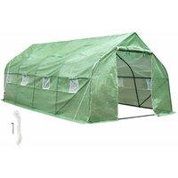 No_brand - Greenhouse polytunnel tent - polytunnel, walk in greenhouse, garden greenhouse - green
