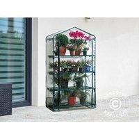Polytunnel greenhouse w/4 shelves, 0.5x0.9x1.63 m, 0.45 m², Green/Transparent - DANCOVER