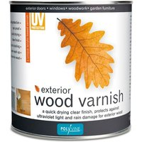 Exterior Wood Varnish Satin - 1 LITRE - Polyvine