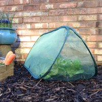 Gardenskill - Pop-Up Net Cloche and Plant Protection Cover – 1m long x 0.4m wide x 0.4m high (pack of 3)