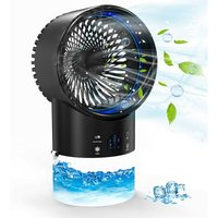 Betterlifegb - Portable Air Conditioner - Con 3 Air Cooler Mobile Air Conditioner with TIMER 2 / 4H, for Home / Office (Black)