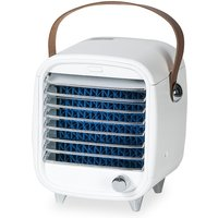 Asupermall - Portable Air Conditioner Fan Ice Fan Air Cooler Cooling Fan with Stepless Speed with Portable Handle for Home Office,model:White