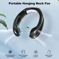 Asupermall - Portable Air Conditioner Fan Rechargeable USB Hanging Neck Fan with 3 Level Air Flow, Portable Wearable Air Fan Neck Personal Fan for