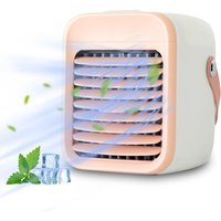 Portable Air Conditioner Rechargeable Air Cooler Fan Air Conditioner Fan with Function Cooling Humidifier Filtration 3 Speeds Colorful Night