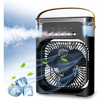 Portable Air Cooler,Personal Air Conditioner Fan Mini Quiet Evaporative with AC adapter,Humidifier Misting Fan, 1/2/3 H Timer, 3 Speeds,60°Adjustment