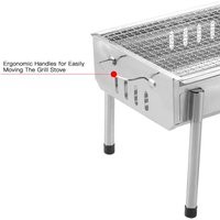 Portable Barbecue Charcoal Grill Stainless Steel Folding Camping BBQ Kabob Grill