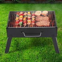 Portable BBQ Barbecue Charcoal Grill Outdoor Garden Picnic Stove Foldable Legs - LIVINGANDHOME