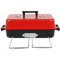 Portable charcoal barbecue Stainless steel camping barbecue - AUGIENB