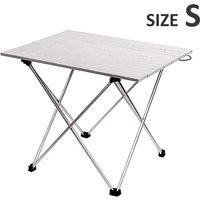 Maerex - Portable Folding Table Picnic Table Aluminium Alloy Dining Desk silver 35x40x29cm