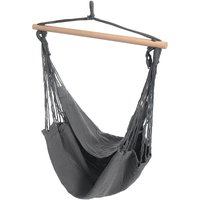 Mohoo - Portable Hanging Hammock Chair Swing Thicken Porch Seat Garden Outdoor Camping Patio Travel grey Without Pillows