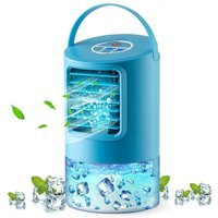 Betterlifegb - Portable Mobile Air Conditioner Personal Air Cooler 4 in 1 Mini Fan Cold Air Humidifier 3 Speed ??Purifier 2 / 4h Timer- 7 Colors