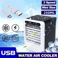 Portable Power Save Usb Mini Air Conditioning Fan Small Quick Humidifier Cooling Fan Air Cooler With Handle - INSMA