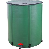 Axhup - Portable Water Butt Set, Folding Rain Barrel Water Collector Collapsible Tank Spigot Water Storage Container for Garden (50 Gallon)