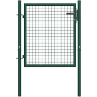Vidaxl - Portail de clôture Acier 100x75 cm Vert