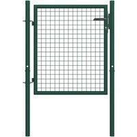 Asupermall - Portail de cloture Acier 100x75 cm Vert