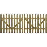 Youthup - Portail de clôture à piquets 2 pcs Bois imprégné 300x120 cm