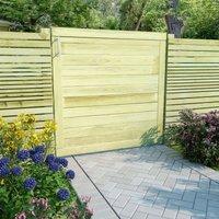 Portail de jardin Bois de pin impregne 100 x 100 cm - ASUPERMALL
