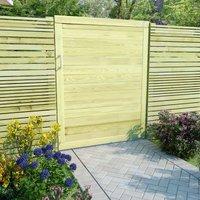 Portail de jardin Bois de pin impregne 125 x 100 cm