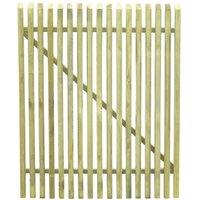 Portail de jardin en piquets Bois de pin impregne FSC 100x125cm