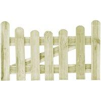 Portail de jardin Pin impregne 100 x 60 cm