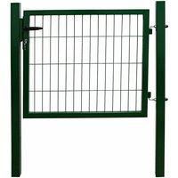 Porte Portail Jardin Cadenas Serrures Clés Galvanisé Acier 80 cm Vert V2Aox