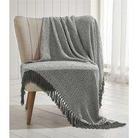 Ascot Chevron Charcoal 100% Cotton Chair Sofa Couch Bed 228x250cm - Portfolio