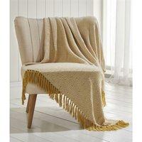 Portfolio Ascot Chevron Ochre 100% Cotton Chair Sofa Couch Bed 228x250cm