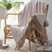 Ascot Chevron Pink 100% Cotton Chair Sofa Couch Bed 228x250cm - Portfolio