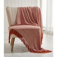 Ascot Chevron Terracotta 100% Cotton Chair Sofa Couch Bed 228x250cm - Portfolio