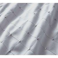 Portfolio Balmoral Broderie Anglaise Double Duvet Cover Set Silver Polycotton Bedding Bed Set