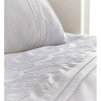 Portfolio Fairmont Super King Size Duvet Cover Set White Feather Textured Bedding