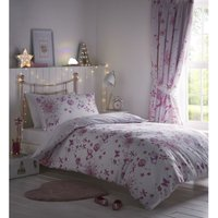 Bedmaker - Portfolio Fairy Princess Pink Double Duvet Cover Set Childrens Bedroom Quilt Bedding